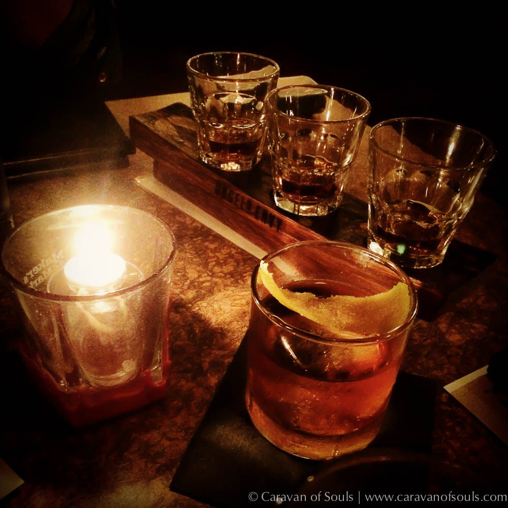 Whiskey drinks made from an amazing collection with talented mixologists.