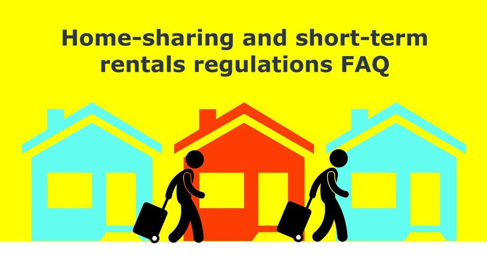Home-sharing and short-term rentals regulations FAQ