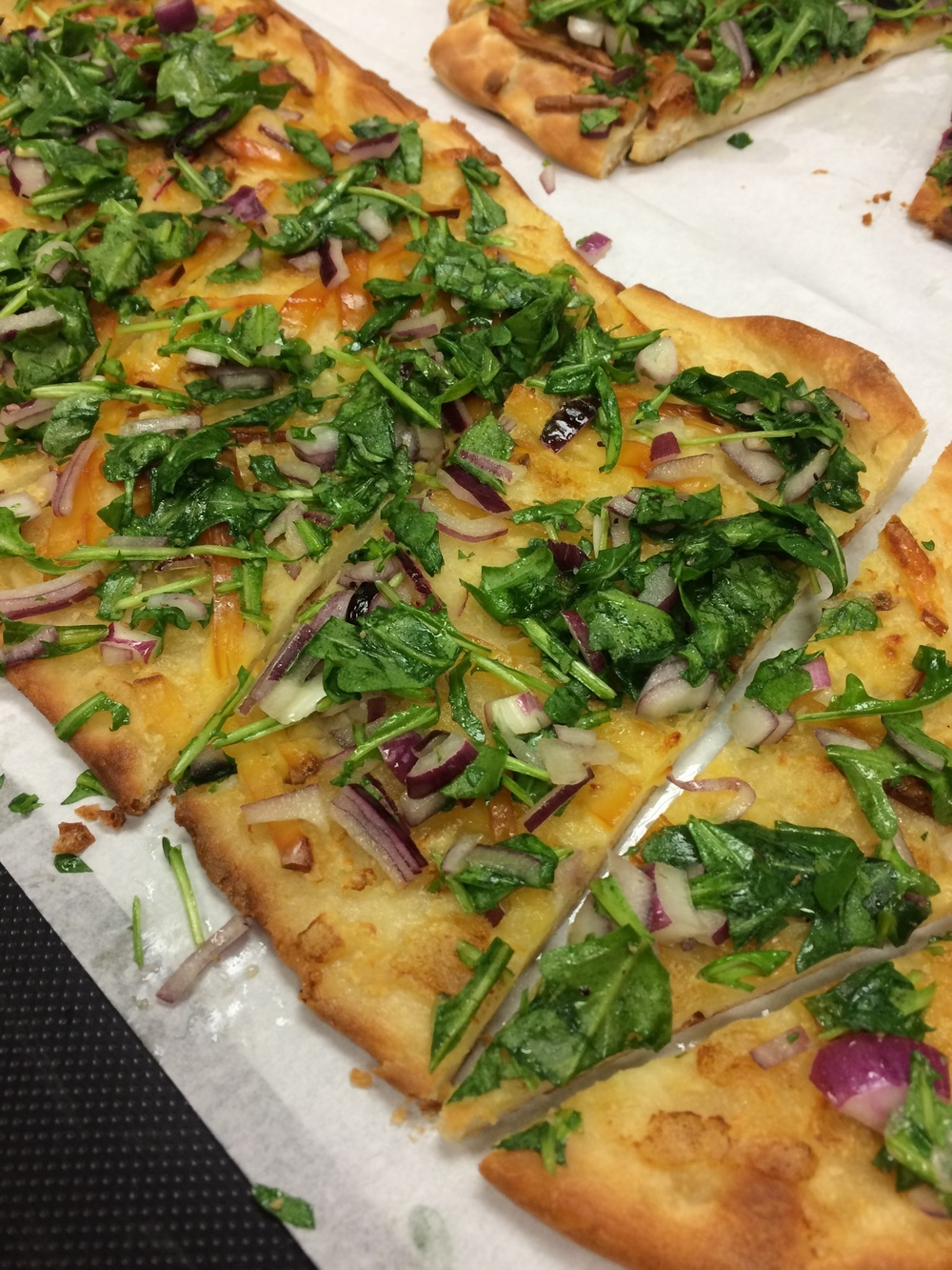 Pizza Blanca with Arugula Salad