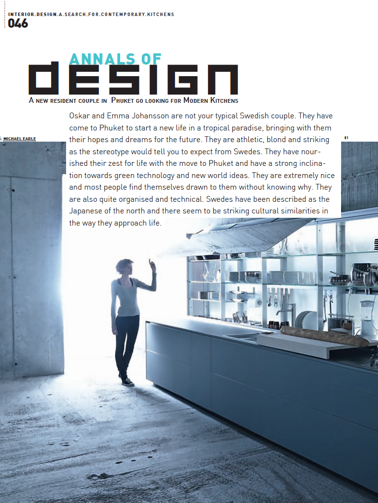 Brian Woulfe, Designed by Woulfe - Think Design Magazine