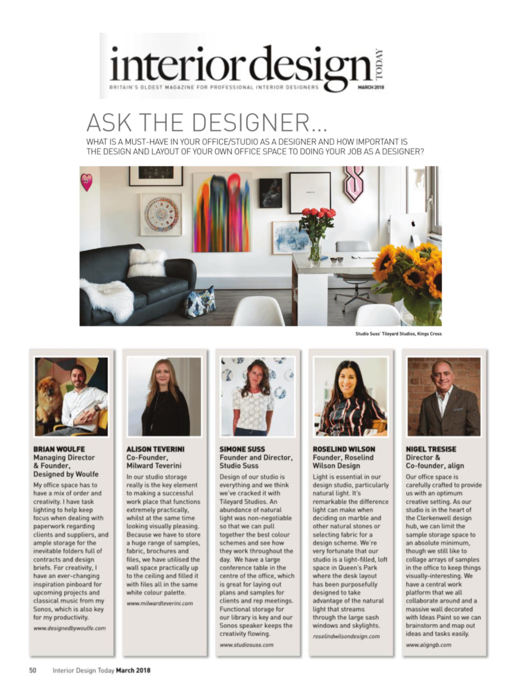 Designed by Woulfe, Interior Design Today Magazine, Ask The Designer, Brian Woulfe