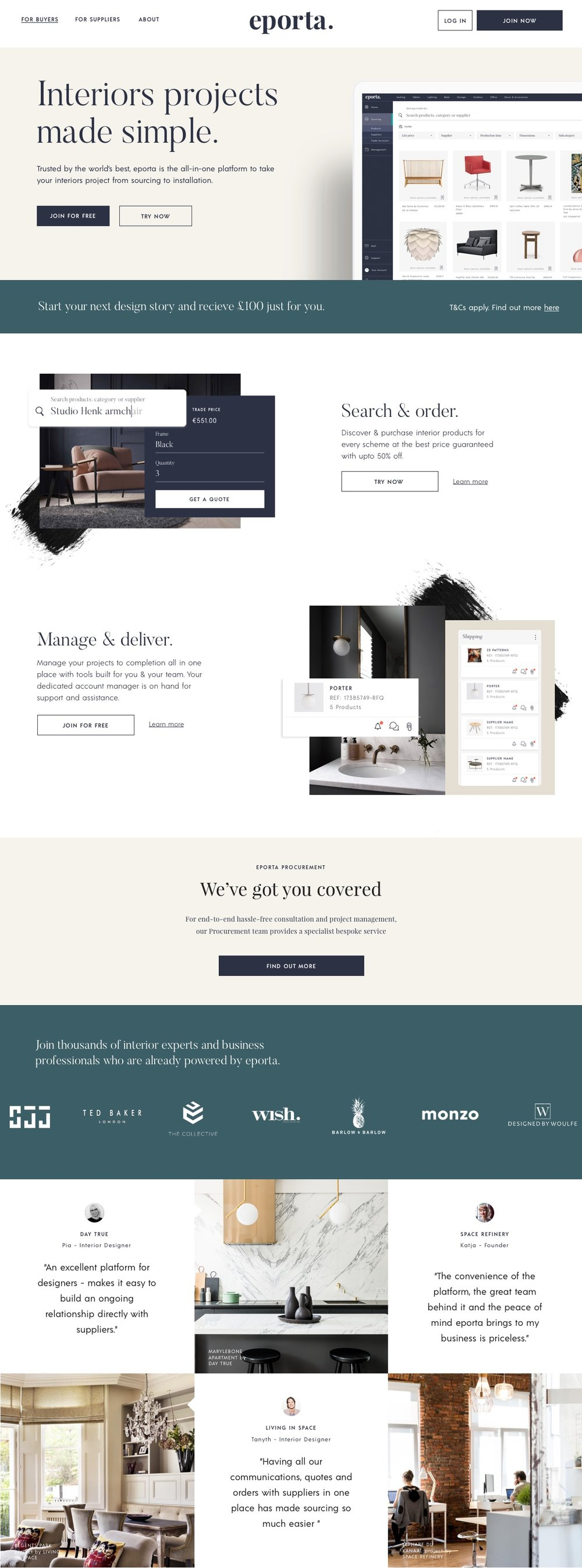 eporta website design