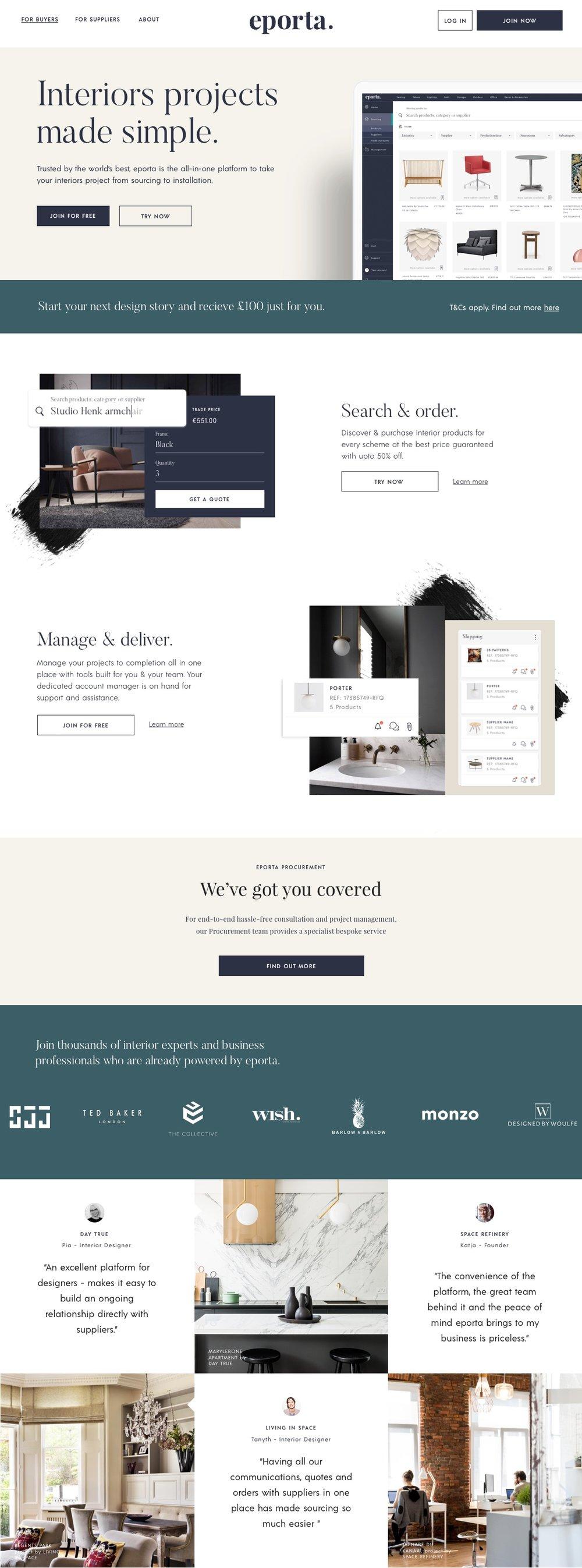 eporta website design