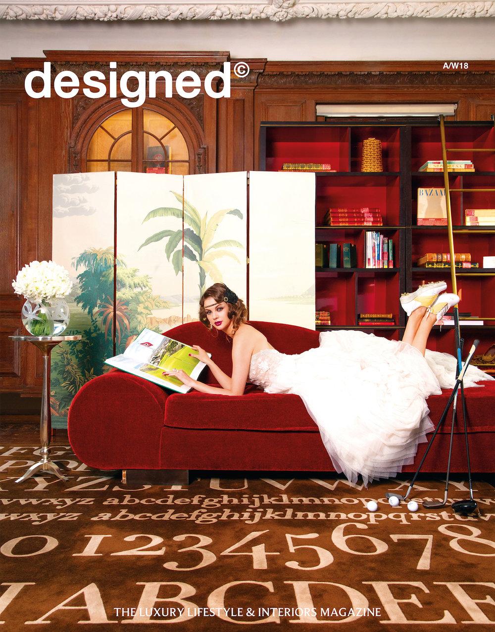 Cover of Designed Magazine. Julia Burdet, Editor