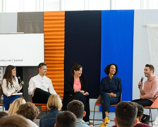 "Speaking about When ""Oops"" Happens with @eporta  during @100percentdesign  alongside @claregaskininteriors  @StudioJennyJones  @Melissamccafferty_  and @Casabotelho  Photo thanks to @thetowner"