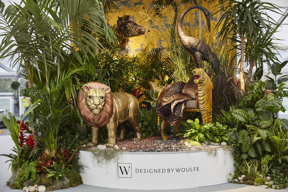 Designed by Woulfe, Decorex Entrance 2018