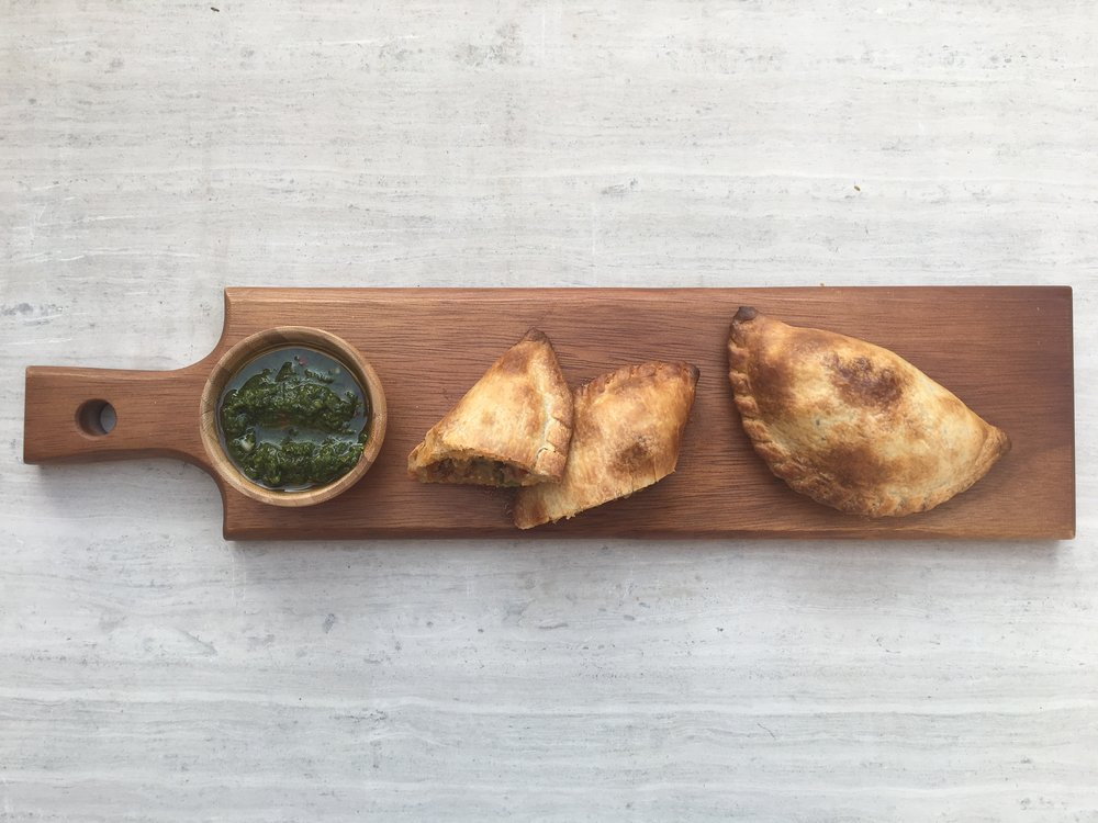 Empanada de Carne with chimichurri