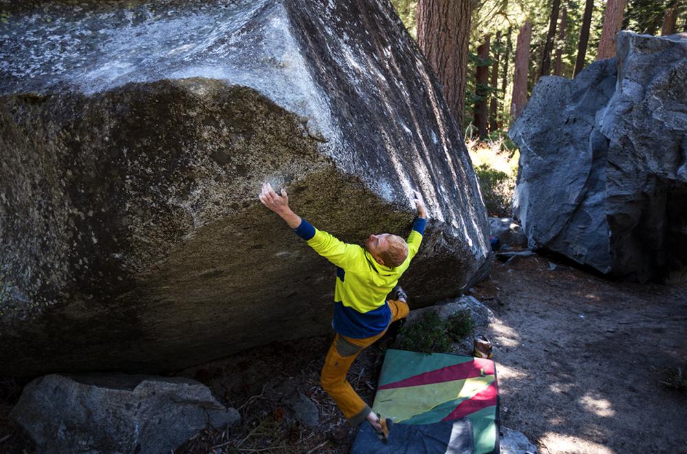 "Jon Thompson on the second ascent of ""Bulldozer"" v7"