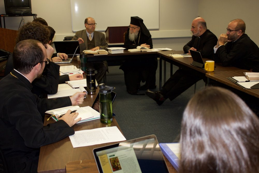 Archbishop Demetrios visits Dr. Bruce Beck's Class.jpg