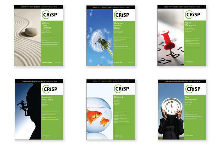 Crisp Series book covers Client: Axzo Press Role: Art direction, photo research, design, and production of over 50 book covers for the Crisp series of books.