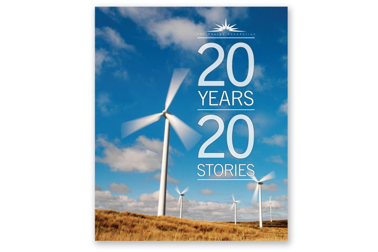 20 Years 20 Stories  Client: The Energy Foundation Role: Photo research, art direction, design and production.