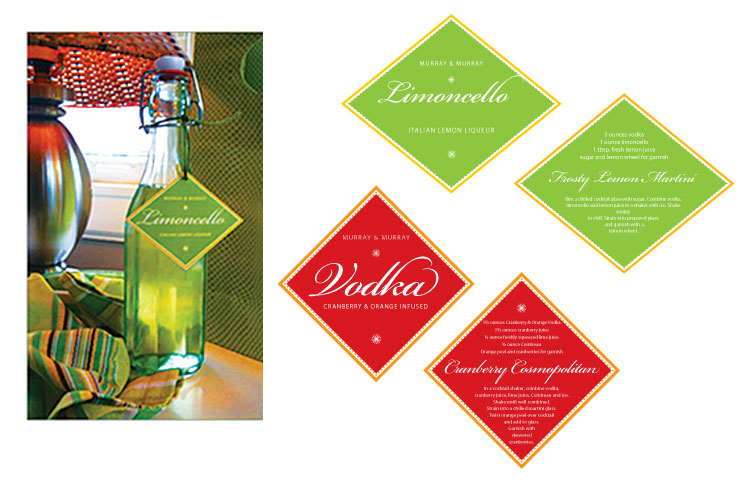 Client: Murray& Murray Role: Design and production of labels.