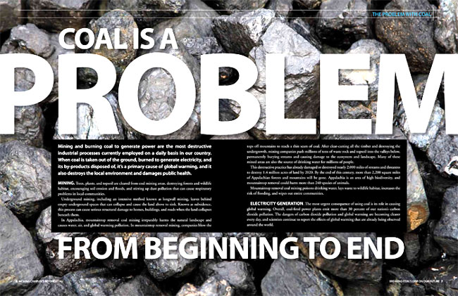 Beyond Coal  Client: The Sierra Club Role: Photo research, art direction, design and production of 24-page report.