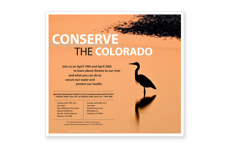 Conserve the Colorado ad Client: The Sierra Club Role: Design, photo research and production of ad.