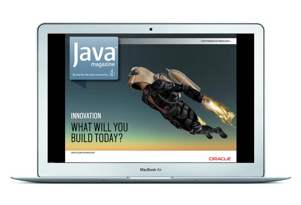 Java  Magazine Client: Oracle Role: Designer Cover concepts for Oracle  Java Magazine