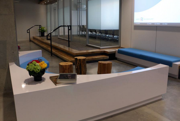 Wacom, a Portland, OR tech company who makes interactive pen displays and tablet styluses, recently opened their new headquarters where they utilized modular architectural glass walls to build out their conference rooms and offices.