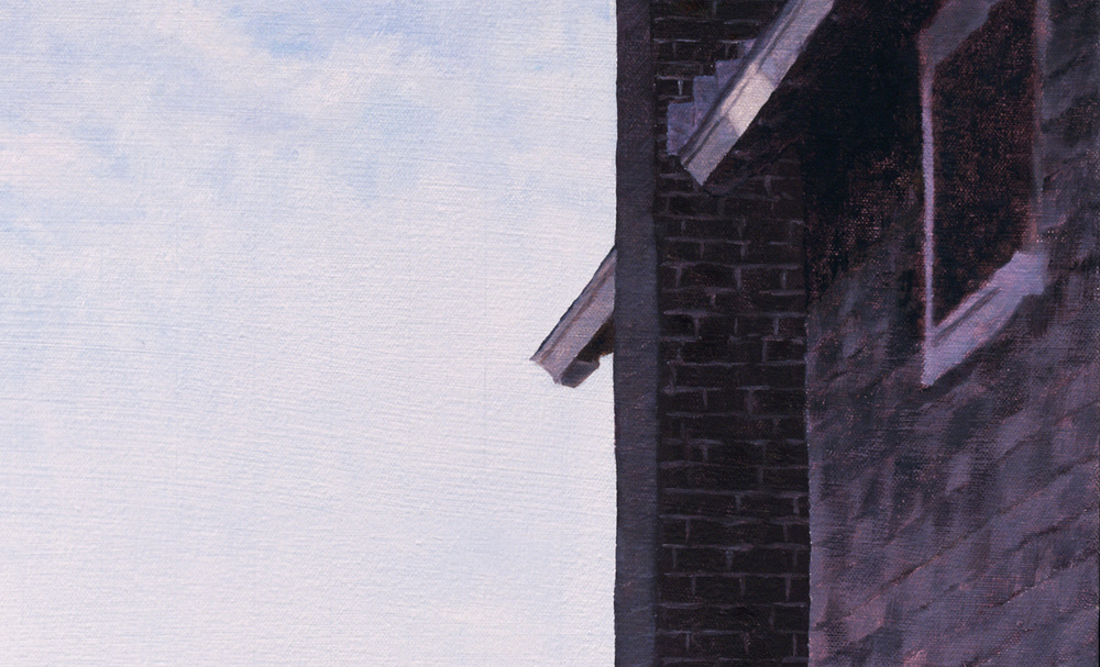 Between 2 Houses  (Detail), 2006 Oil on linen 40 x 27 inches