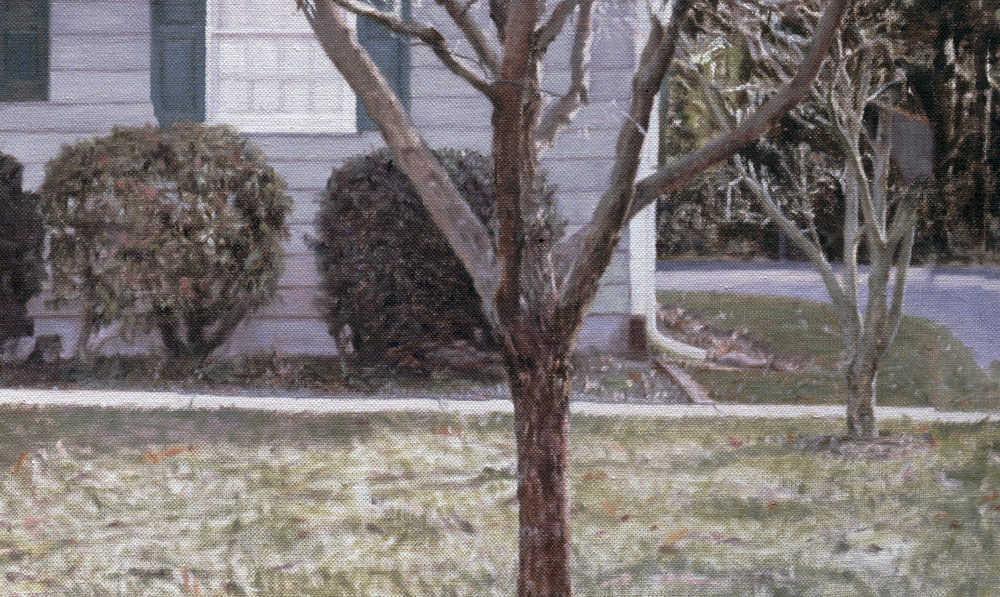 Yardley Ranch House  (Detail), 2009 Oil on linen 35 1/2 x 55 inches