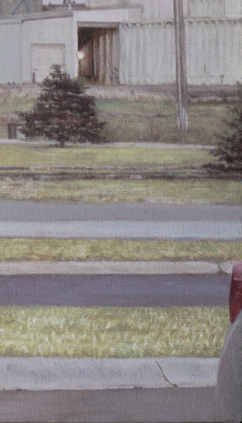 Montana Parking Lot Tree  (Detail), 2013 Oil on linen 35 x 62 inches