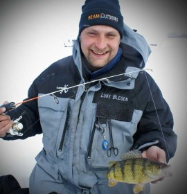 LUKE BLEGEN   Luke Blegen currently lives in Elk River, MN where he is an owner of two businesses in the local community.  Both businesses are fortunate enough to allow Luke the opportunity to take winters off.  During these winters, Luke has taken the opportunity to become an accomplished ice fishing tournament angler, competing in the North American Ice Fishing Circuit with his twin brother and teammate Ben Blegen.     While Luke and Ben have shared many of their ice fishing accomplishments, Luke consistently strives to perfect his on ice techniques, strategy and knowledge of ice fishing.  Luke's competitiveness and ice fishing skills has led him to a 1st and 5th place NAIFC tournament finish and a 3rd place in team of the year in 2011 and 12th in 2012.     Luke is always continuing to expand his knowledge of ice fishing and looks to continue his success this upcoming ice season and is truly grateful for the opportunities he has been given.
