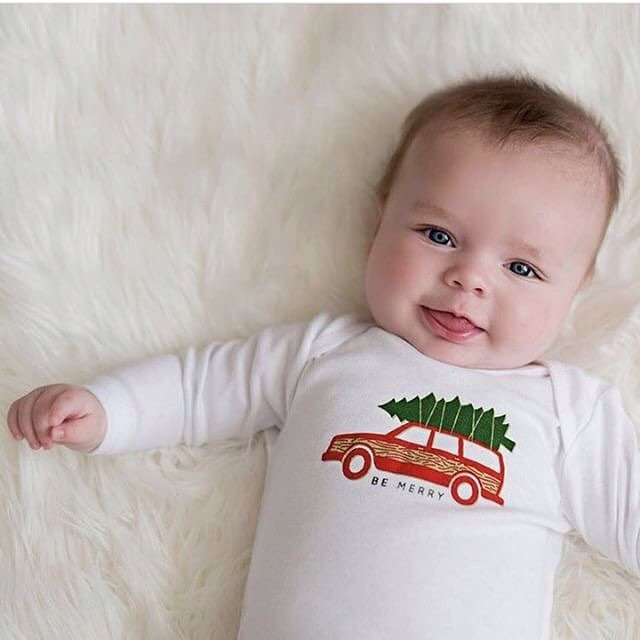 "Head over to @camplight_apparel and snag your ""be merry"" tees for you and your family! Quantities are limited! ・ ・ ・ ・ ・ #shopsmall #bemerry #camplightapparel #christmas #holidays #kids #newborn #family #clothes #fashion"