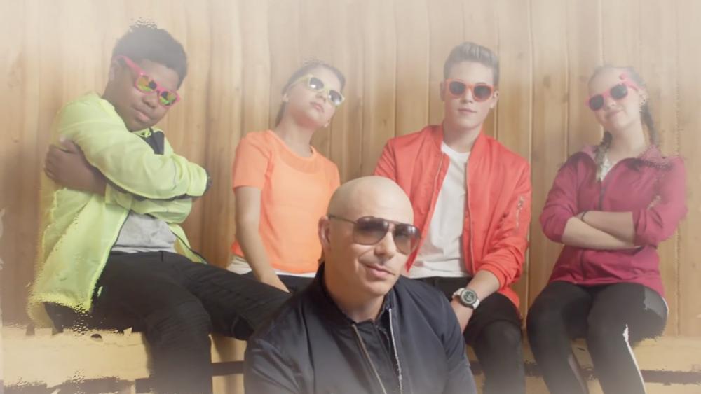 Pitbull's 'Green Slime' Music Video (ft. Lizzy Greene, Simone Biles & MORE!) | KCS 2017 | Nick