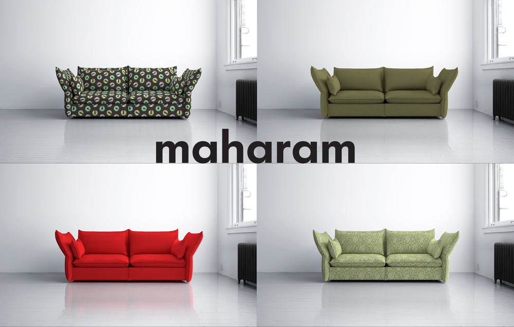 Maharam  is a high-end textile company, owned by Herman Miller and based in Manhattan. I had the pleasure of working with them to develop their library of web imagery. Being a leader in interior design manufacturing from product and graphic design, to digital art and architecture, the scope of this project was huge, involving over 4000 textiles that had to be mapped onto 7 different base images. My job on this project was heading up the production, modeling, and lighting of all 3D elements, which included designing the digital system to automate the mapping of textiles to 3D furniture while maintaining real world scale and overall quality of products.