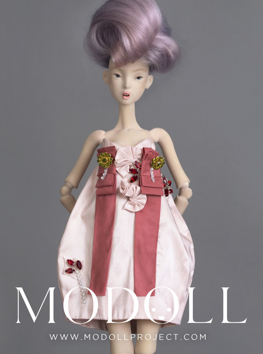 The final product is composed of 20 hollowed parts strung together internally and stands 19 inches tall.  www.modollproject.com