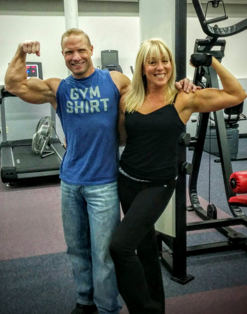 Your fitness pros - Jeff & Jodi practicing what we preach at over 50 years of age. -