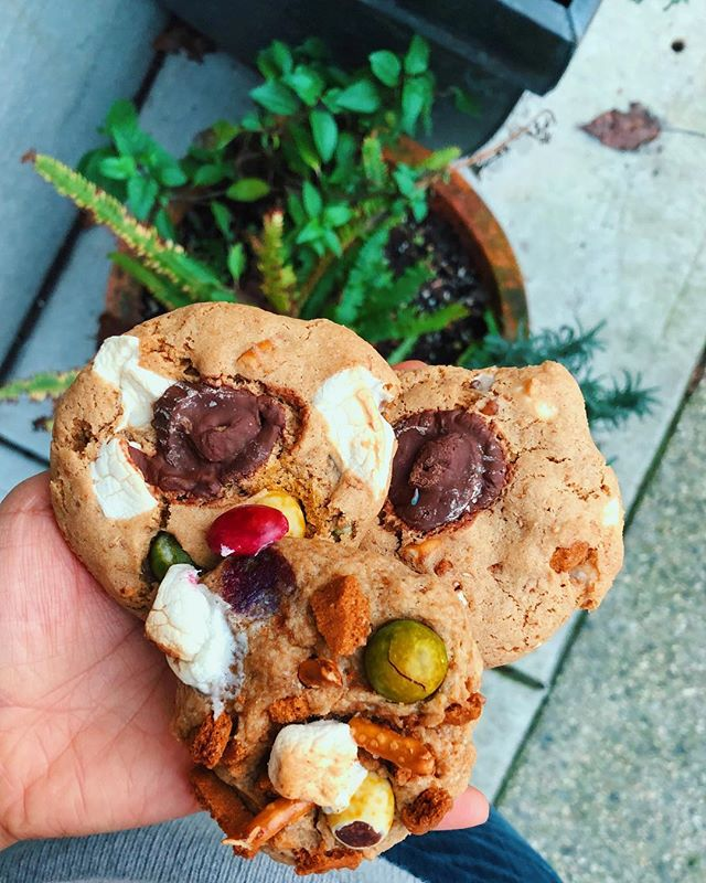 VANCOUVER ARE YOU READY FOR THESE COOKIES👏🏻🍪💃🏻 they'll nourish your body and feed your SOUL😉  soft, chewy, and stuffed with fun treats! I've been having so much fun these last few months working with my dad & my friend Kristen to make the vegan GF cookie of our dreams and we're all so stoked for you guys to try it! Stay tuned for more cookie updates... and let me know WHAT WOULD UR DREAM COOKIE BE?!🥰🍪