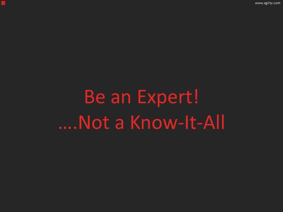 Be An Expert 1