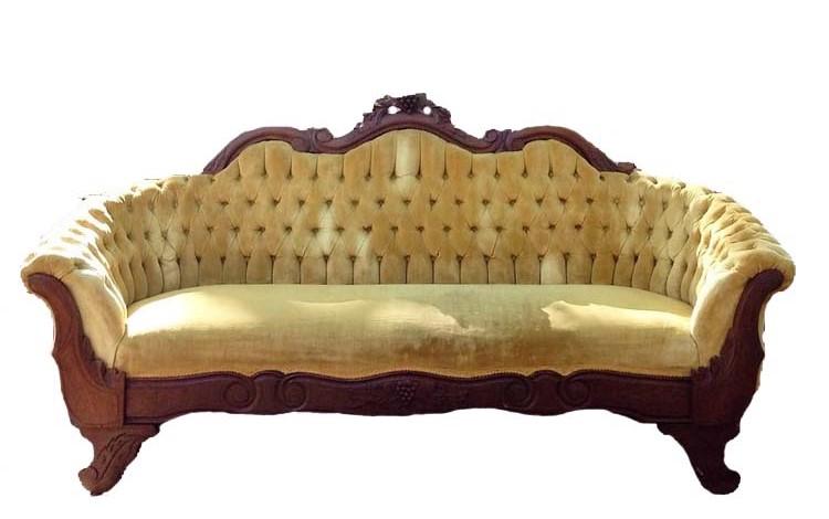 LITTLE MISS SUNSHINE velvet sofa