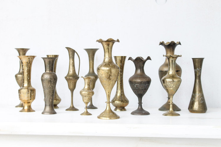 Vintage Brass Vessels (assorted)