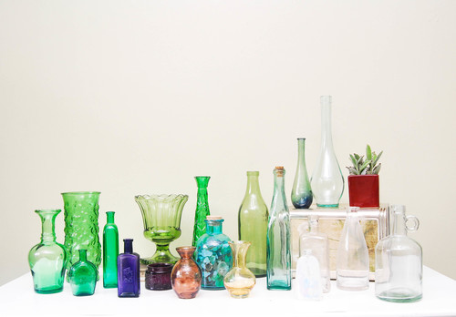 Vintage Glass Vessels (assorted)