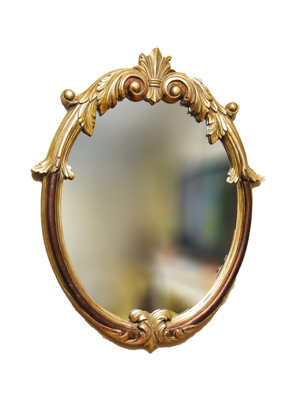 GOLD ornate mirror - medium