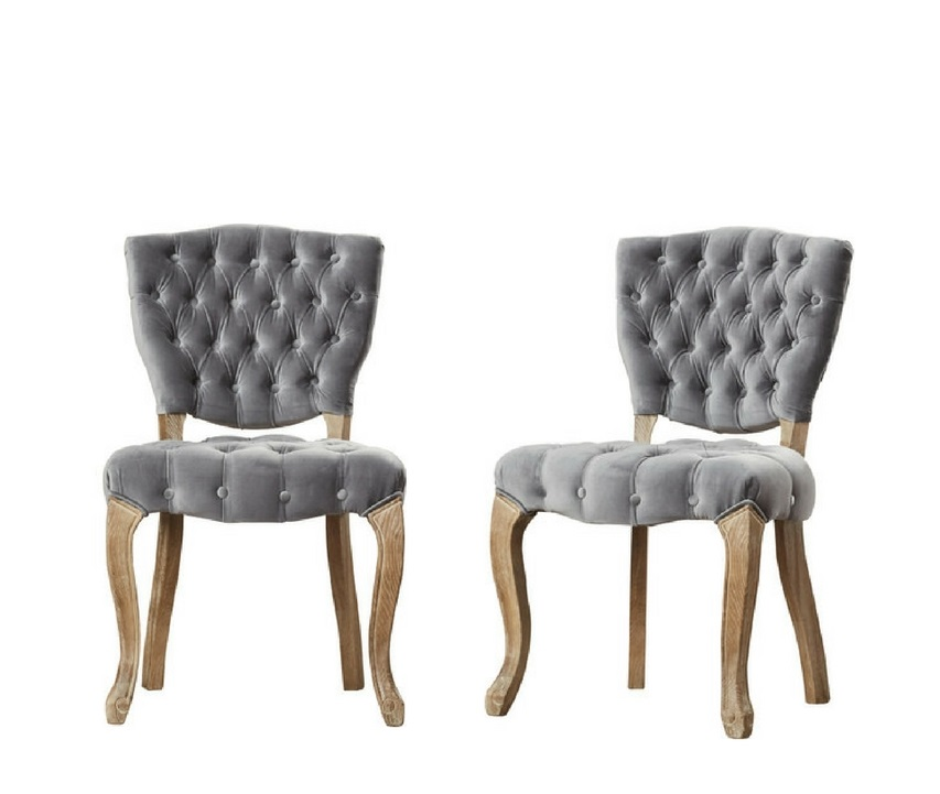 SMOKEY tufted velvet chairs (2)