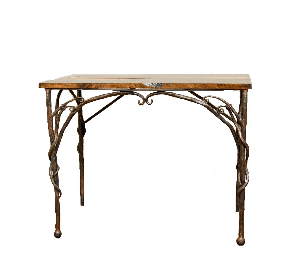 TRISTIN Iron & Barnwood Table