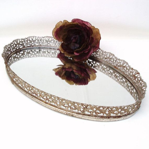 Oval Filigree Vanity Trays (4)