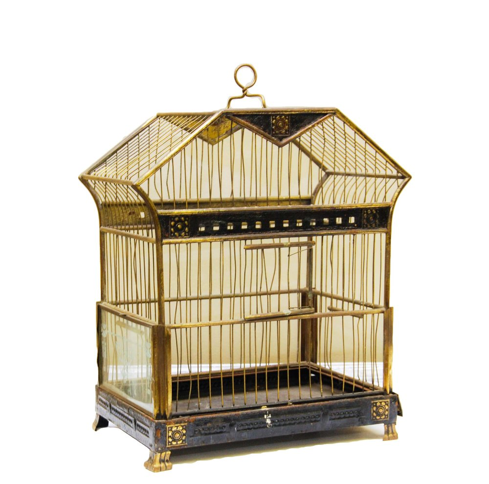 Vintage Gold & Black Bird Cage