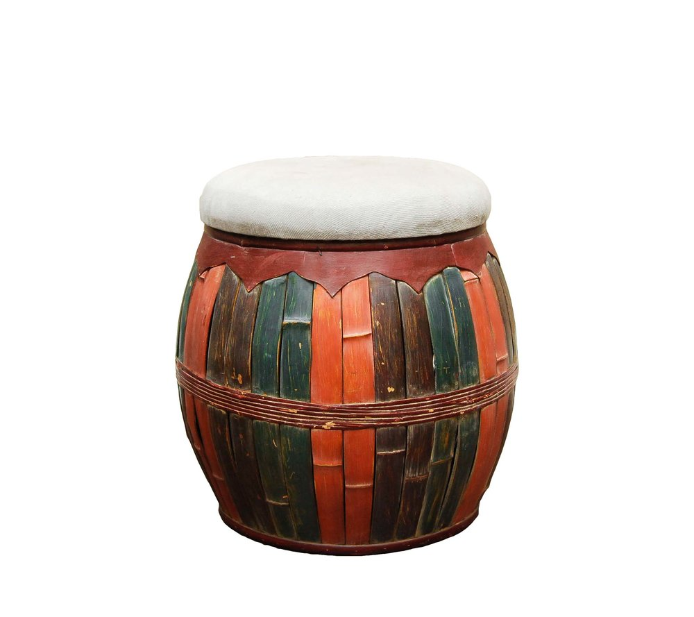 SIMBA tri-colored wood stool