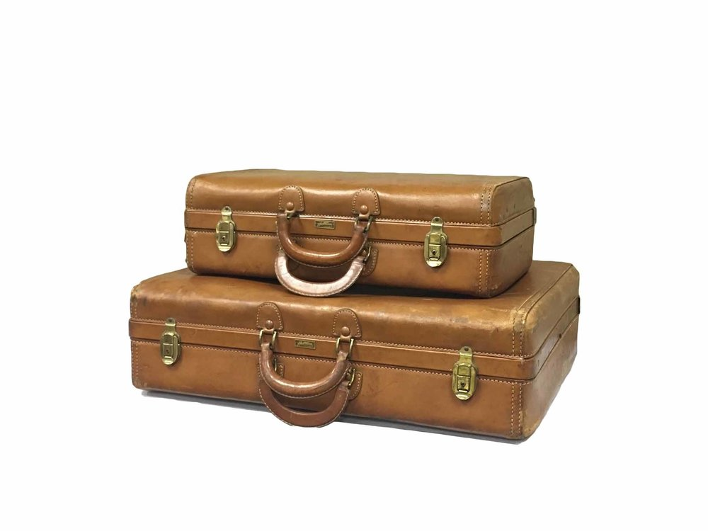 Vintage Leather Suitcases (2)