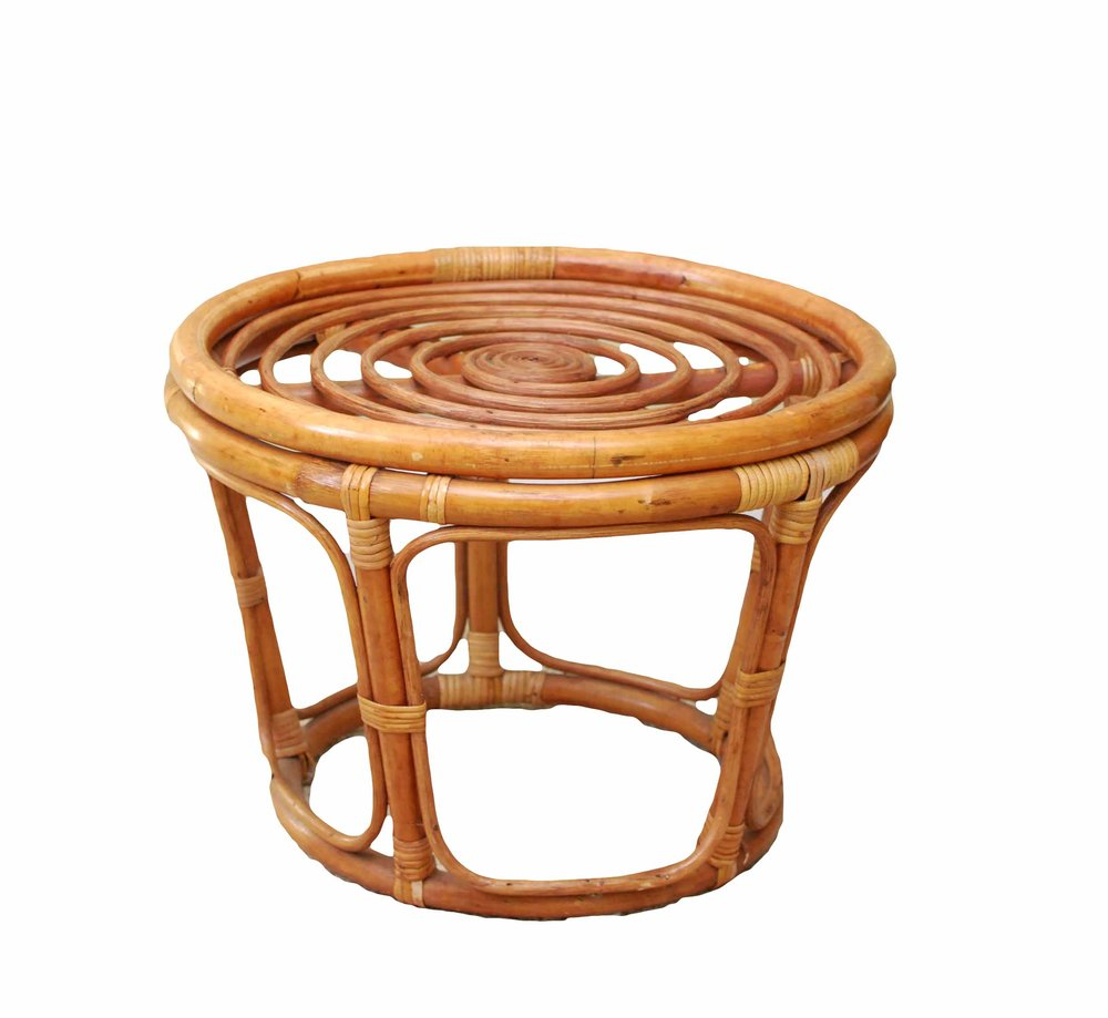 Rocky Rattan Side Table / Stool