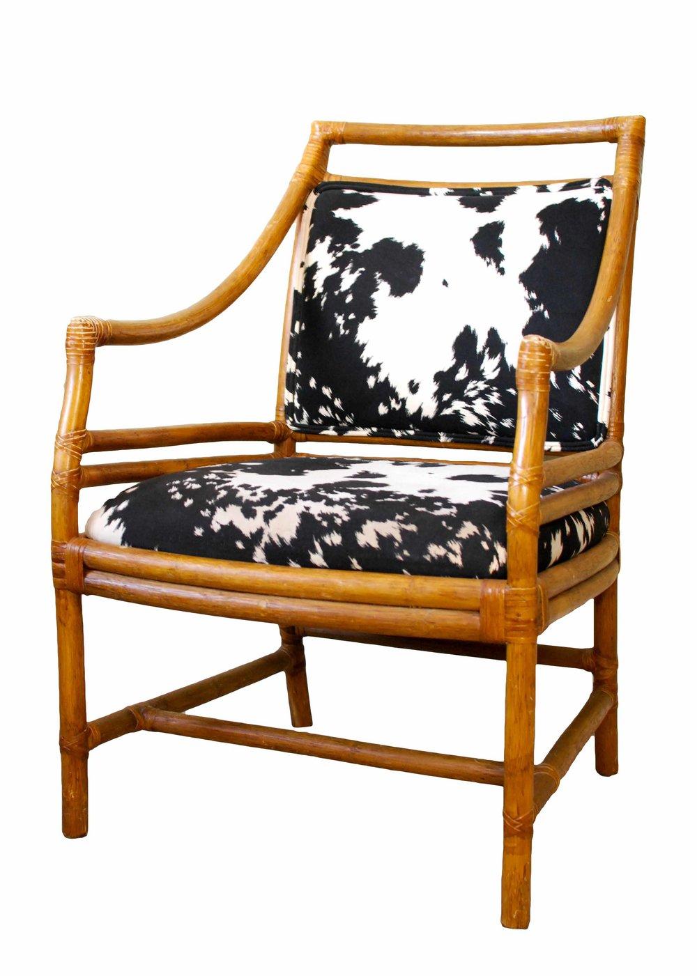 COWHIDE bamboo chair