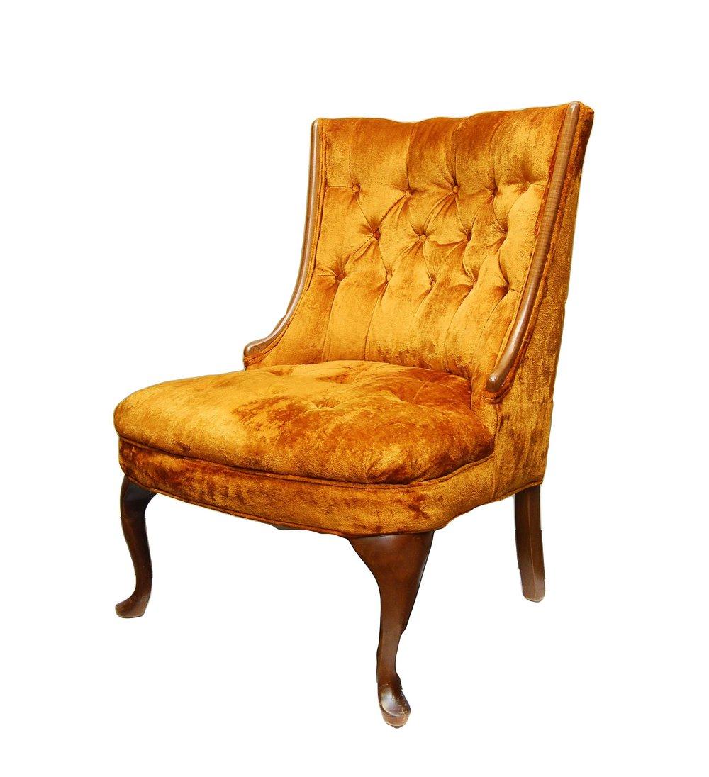TANGERINE DREAM velvet chair