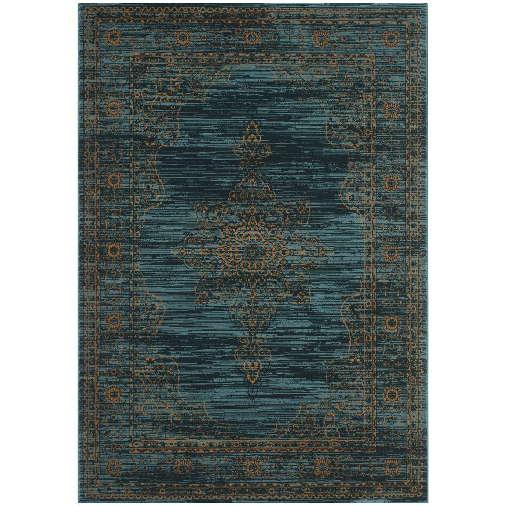 ALADIN (Turquoise + Gold) Persian Rug