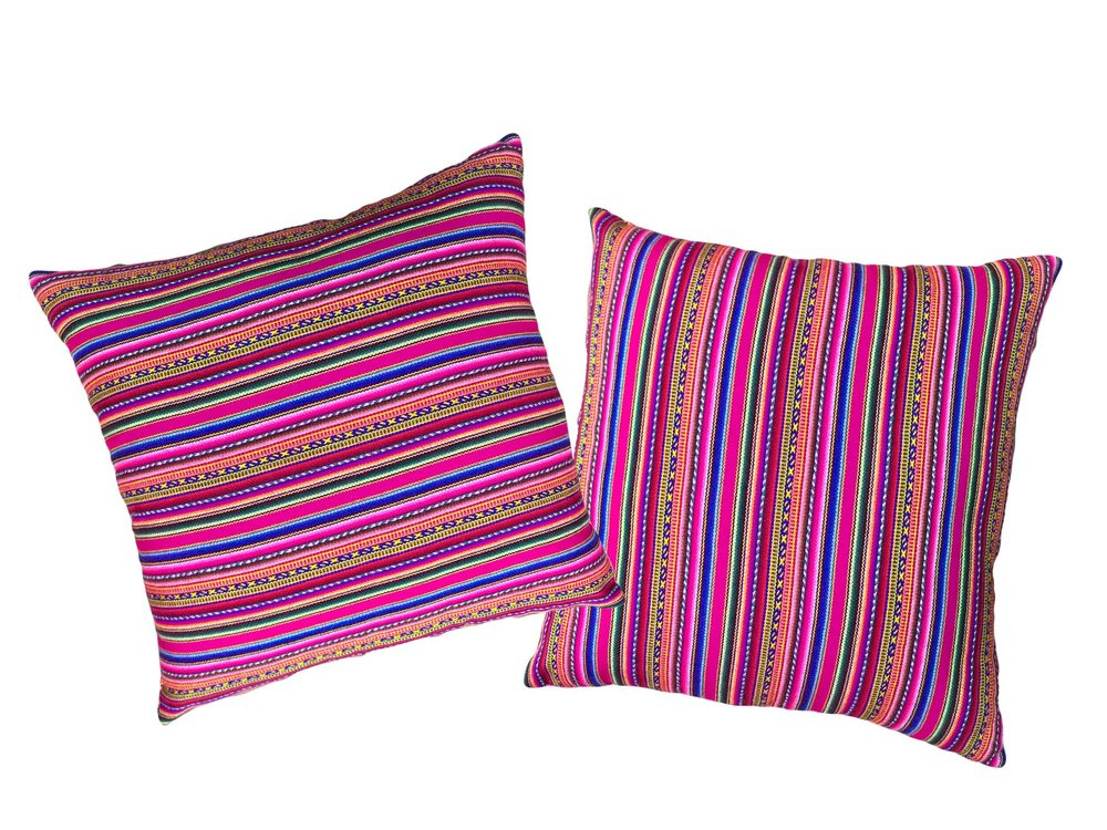 Pink Peruvian Pillows (2)