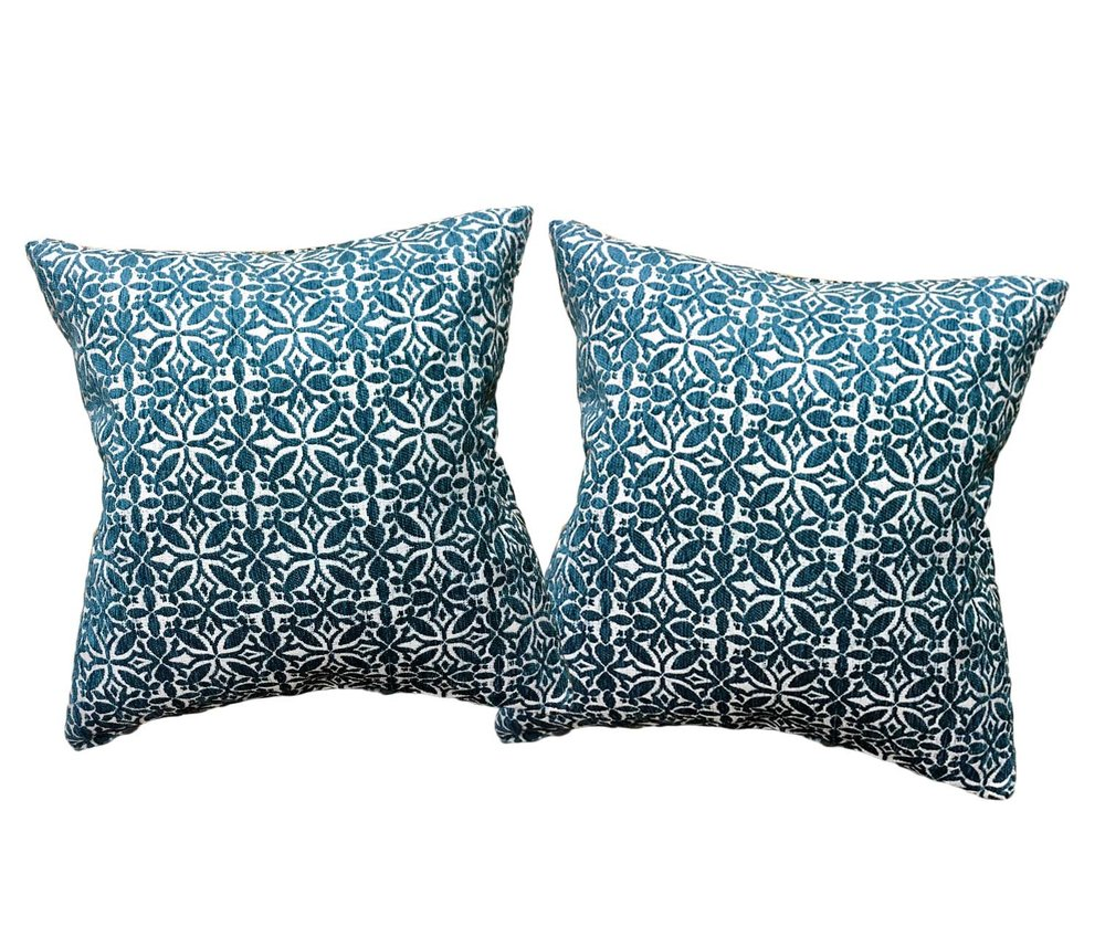 Aqua Mosaic Pillows (2)
