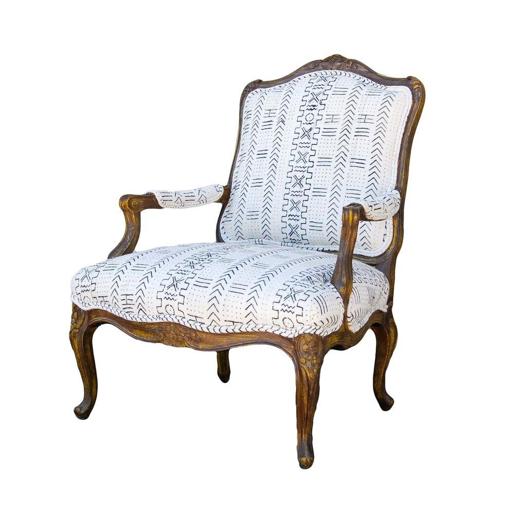 NALA mud cloth arm chair