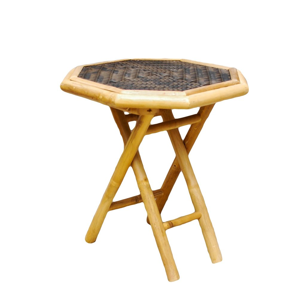 Bamboo Octagon Side Table