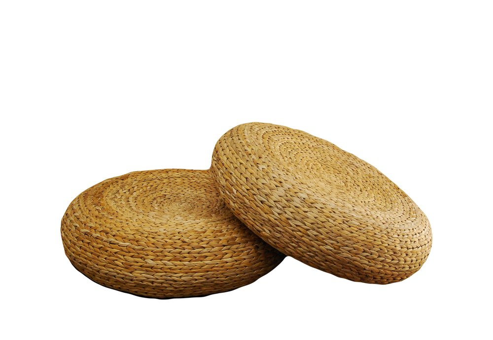 Rattan Low-rise Poofs (2)